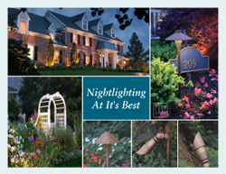low voltage lighting installation, night lighting installation, outdoor lighting installation