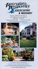 Landscaping Brochure: Masonry, stone walls, sitting walls, brick pavers, patio, outdoor lighting, San Juan Pools, Landscape Design, Connecticut