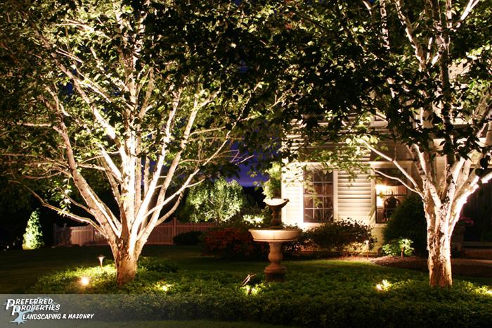 Preferred Properties Landscaping Masonry Outdoor Lighting
