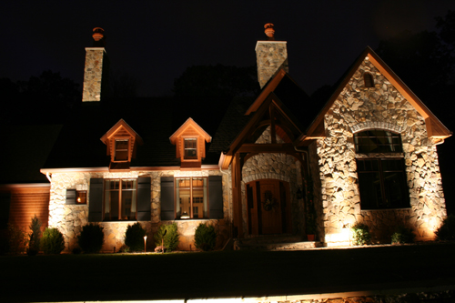Exterior Home Lighting, outdoor lighting automation contractor, landscape lighting installer