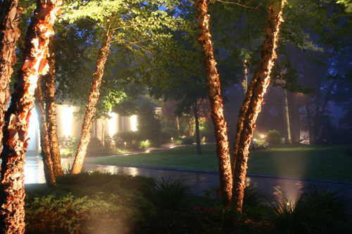 low voltage lighting installation, night lighting installation, outdoor lighting installation, Landscape lighting installer