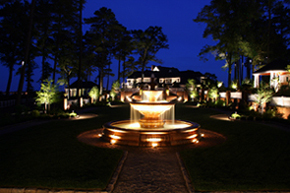 Baywood Greens: Outdoor lighting, landscape lighting, landscape lighting design, exterior lighting, low voltage lighting